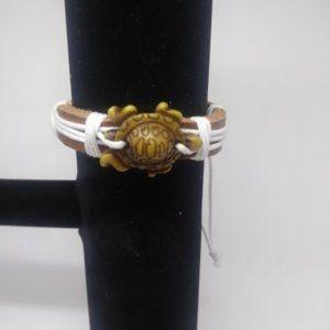 New unisex Leather Turtle Bracelet